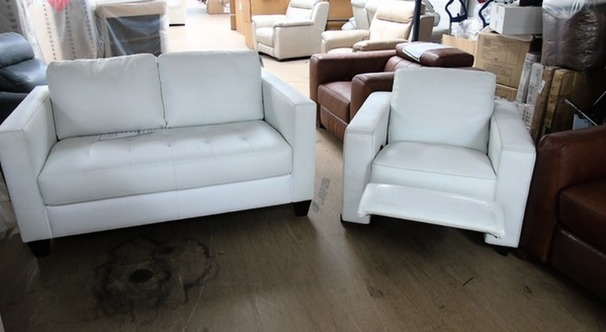 Tivoli 2 seater  and recliner chair Winter white £798 (CARDIFF SUPERSTORE)