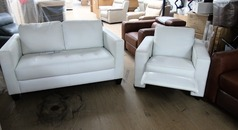 Tivoli 2 seater  and recliner chair Winter white £798 (CARDIFF SUPERSTORE) - Click for more details