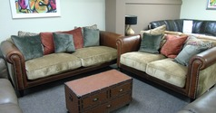 Salisbury 3 seater and 2 seater  tan £1999 (CARDIFF SUPERSTORE) - Click for more details