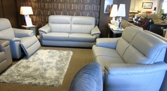 Genoa 3 seater, 2 seater and triple electric recliner chair £3499 (CARDIFF SUPERSTORE) - Click for more details
