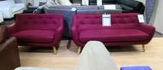 Scan 752 3 seater and 2 seater red £499 (CARDIFF SUPERSTORE) - Click for more details