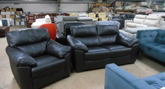 Pescaro 2 seater and 1 chair brown £899 (CARDIFF SUPERSTORE) - Click for more details