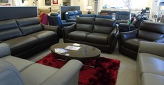 Anzio 3 seater, 2 seater and chair brown £2999 (CARDIFF SUPERSTORE) - Click for more details
