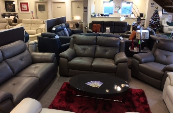 Strasbourg 3 seater and 2 seater and electric recliner chair granite  £2699 (CARDIFF SUPERSTORE)