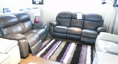 Barecelona electric recliner 3 seater and 2 seater dark brown £2299 (CARDIFF SUPERSTORE) - Click for more details