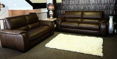 Amalfi 3 seater and 2 seater Oregon brown £2699 (CARDIFF SUPERSTORE) - Click for more details