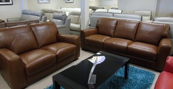 Porto 3 seater and 2 seater vintage tan £1599 (CARDIFF SUPERSTORE)