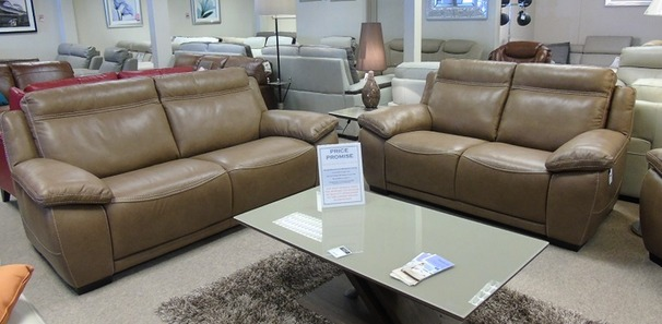 TORINO 3 seater and 2 seater taupe  £2499 (CARDIFF SUPERSTORE)