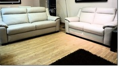 KENT 3 seater and 2 seater stone hide £1799 (CARDIFF SUPERSTORE) - Click for more details