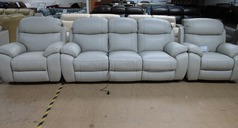 Barcelona electric recliner 3 seater and 2 electric recliner chairs in stone hide £2899 (SWANSEA SUPERSTORE) - Click for more details