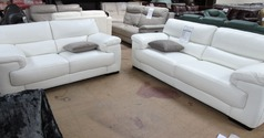 Rosa 3 Seater and 2 Seater  in Winter White  £2,399 (SWANSEA SUPERSTORE) - Click for more details