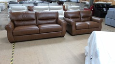 Miro 3 seater and 2 seater vintage tan £1599 (SWANSEA SUPERSTORE) - Click for more details