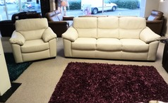 Pesacro 3 seater and 1 chair cream £999 (SWANSEA SUPERSTORE) - Click for more details