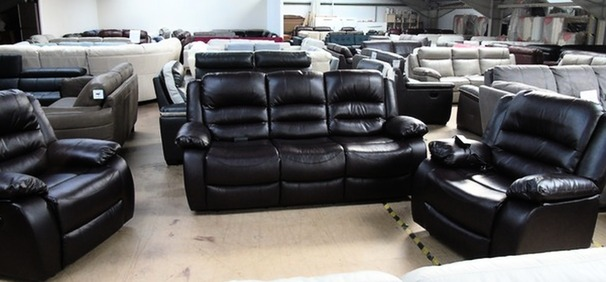 Clifton electric recliner 3 seater and 2 chairs dark brown  £599 (SUPERSTORE)