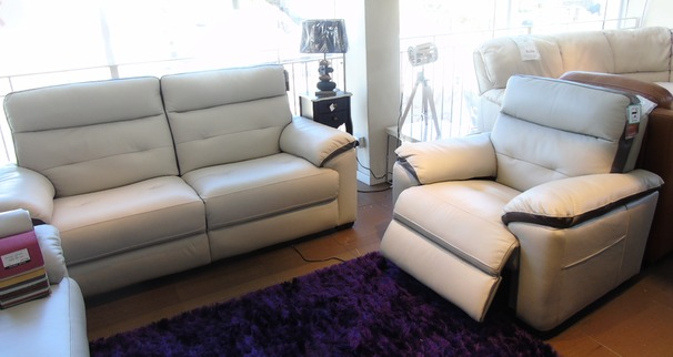 Le Mans 3 seater and electric recliner chair £1799 (SWANSEA SUPERSTORE)