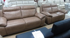 TORINO 3 seater and 2 seater taupe (same stitch)  £2499 (SWANSEA SUPERSTORE) - Click for more details