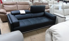 Kuka Madrid 3 seater black £499 (SWANSEA SUPERSTORE) - Click for more details