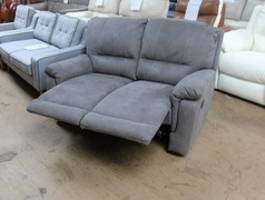 Melanie 2 seater manual recliner 'billy jo' grey £599 (SWANSEA SUPERSTORE) - Click for more details