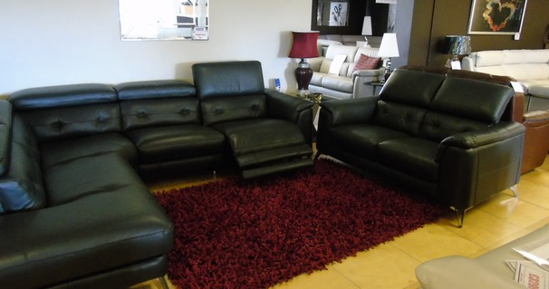 Toulon electric recliner corner suite and 2 seater slate grey £3799 (SWANSEA SUPERSTORE)