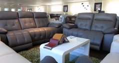 TOLEDO electric recliner 3 seater and 2 seater  £2399 taupe (SWANSEA SUPERSTORE) - Click for more details