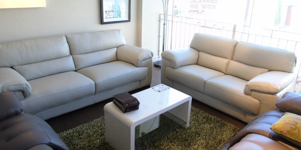 Rosa 3 Seater and 2 Seater  in  stone  £2,399 (SWANSEA SUPERSTORE)