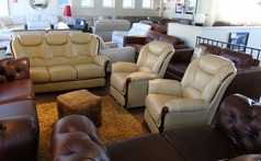 GEMMA 3 seater and 2 chairs- antique beige £1799 (SWANSEA SUPERSTORE) - Click for more details