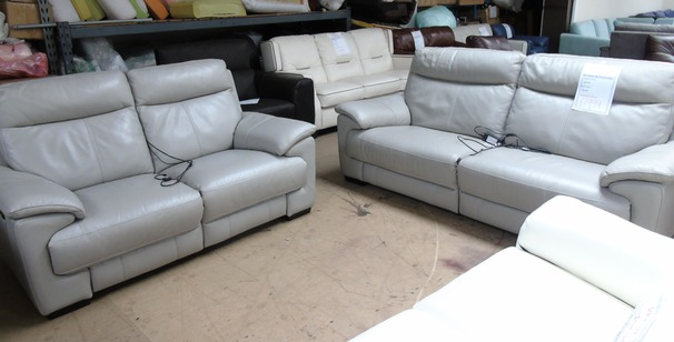 Paris electric recliner 3 seater and 2 seater electric recliner  grey £1999 (SUPERSTORE)
