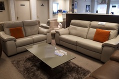 Marseille double electric 3 seater and 2 seater stone grey £2799 (CARDIFF  SUPERSTORE) - Click for more details