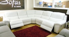 Marino double electric recliner corner suite white £2499 (NEWPORT) - Click for more details