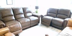 Marlowe electric recliner 3 seater and 2 seater £2299 (NEWPORT) - Click for more details