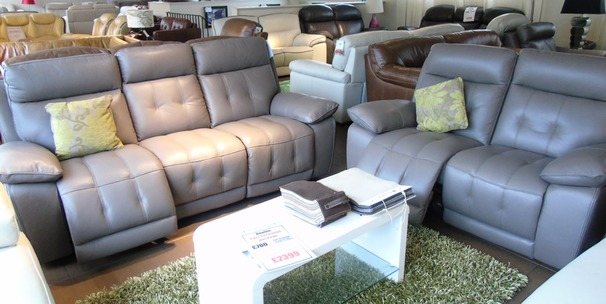 TOLEDO electric recliner 3 seater and 2 seater  £2399 taupe (NEWPORT)