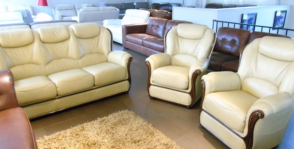 Gemma 3 seater and 2 chairs antique beige£1799 (NEWPORT)