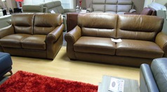 Mira 3 seater and 2 seater vintage tan £1599 (NEWPORT) - Click for more details