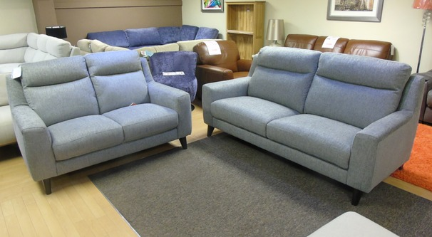 Newbury 3 seater and 2 seater grey fabric  £1299 (SUPERSTORE)