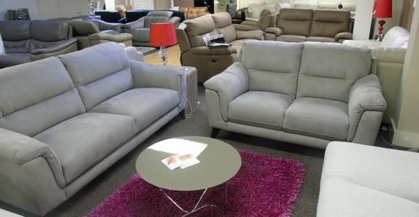 Calais 3 seater and 2 seater- grey fabric £1299 (SUPERSTORE)