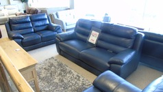 Charlotte 3 seater and 2 seater navy blue £1899 (CARDIFF SUPERSTORE) - Click for more details