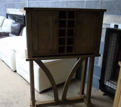 Medium oak wine cabinet £249 (SWANSEA SUPERSTORE) - Click for more details