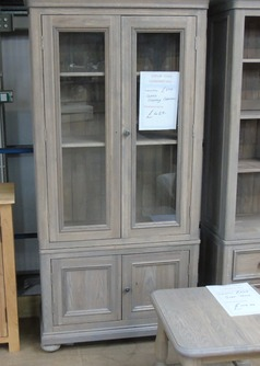 White oak display cabinet £379 (SWANSEA SUPERSTORE) - Click for more details
