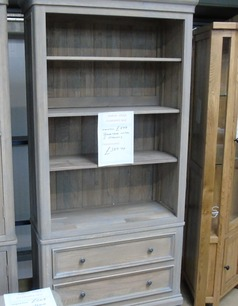 White oak open book case with 2 draws £299 (SWANSEA SUPERSTORE) - Click for more details