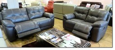 Modena electric recliner 3 seater and 2 seater grey £1999 (NEWPORT) - Click for more details