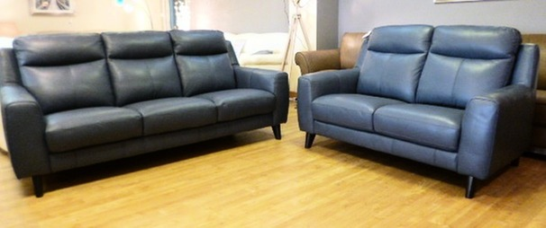 NEWBURY large 3 seater and 2 seater blue £1999 (NEWPORT)