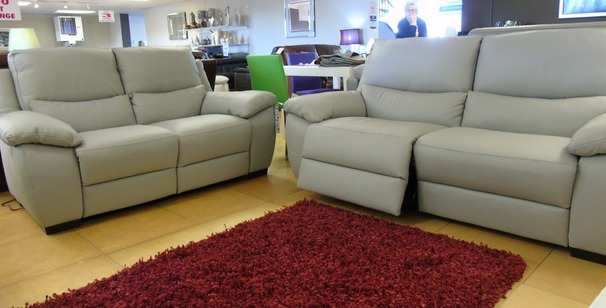 Marino double electric recliner 3 seater and 2 seater grey £2399 (NEWPORT)