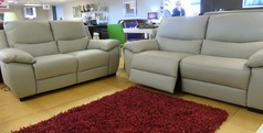 Marino double electric recliner 3 seater and 2 seater grey £2399 (NEWPORT) - Click for more details