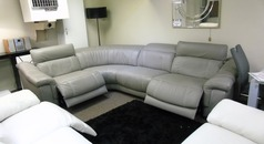 Lipari 4 seater double electric recliner corner suite grey £2499 (NEWPORT STORE) - Click for more details