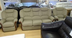 GARDA 3 seater and 2 chairs  stone beige £1499 (SWANSEA SUPERSTORE) - Click for more details