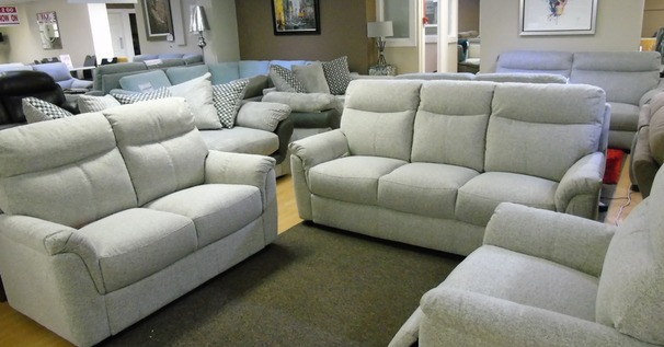 Brussels 3 Seater + 2 Seater in beige fabric £1299 (SWANSEA SUPERSTORE)