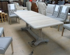 Grey oak extending table £349 (SWANSEA SUPERSTORE)  - Click for more details