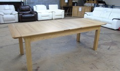 6 foot medium oak fully extending dining table £299 (SWANSEA SUPERSTORE) - Click for more details