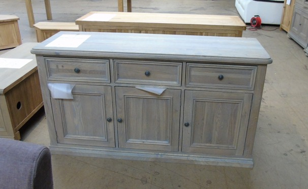 Light oak 3 door sideboard £299 (SWANSEA SUPERSTORE)