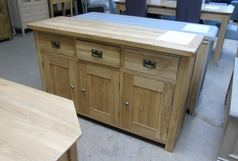 Solid medium oak 3 door sideboard £249 (SWANSEA SUPERSTORE) - Click for more details
